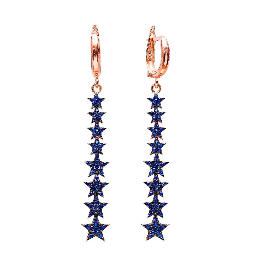 Dangle Star Earrings Turkish Wholesale Handmade Sterling Silver Earring