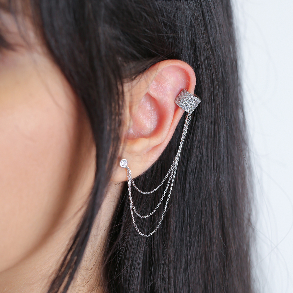 Elegant Long Earring Wholesale Handcrafted 925 Silver Sterling Jewelry