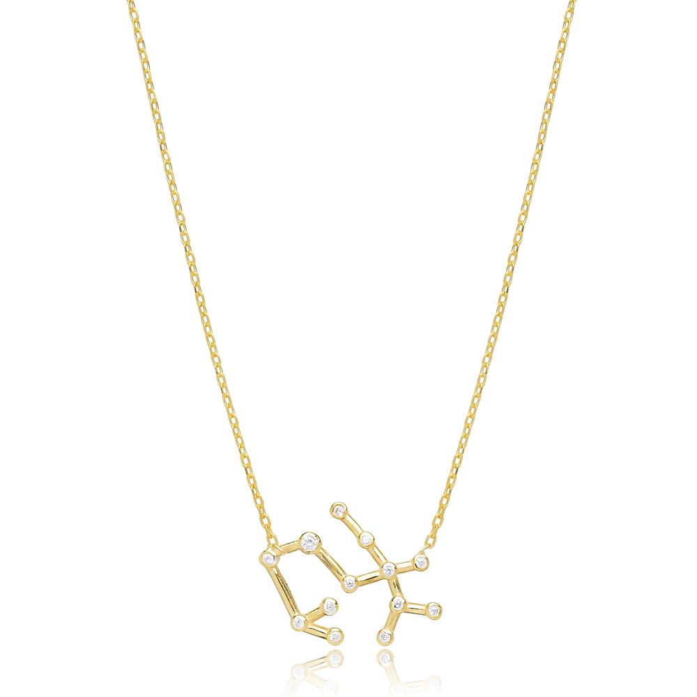 Zodiac Virgo Necklace Turkish Handmade 925 Sterling Silver Jewelry