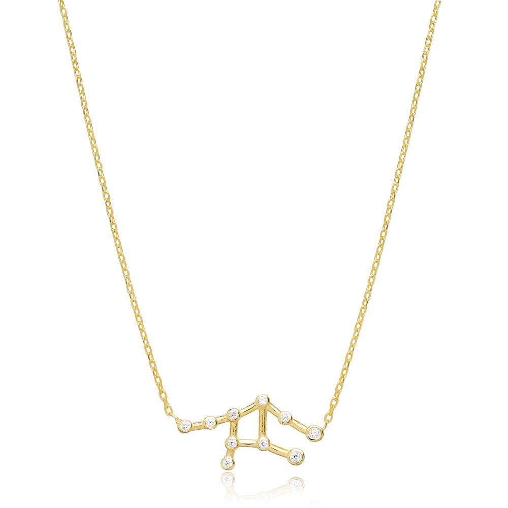 Zodiac Sagittarius Necklace Turkish Handmade 925 Sterling Silver Jewelry