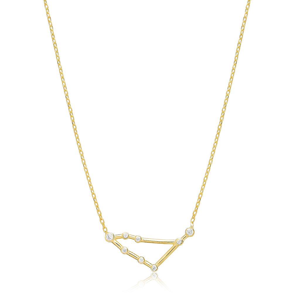 Zodiac Capricorn Necklace Turkish Handmade 925 Sterling Silver Jewelry