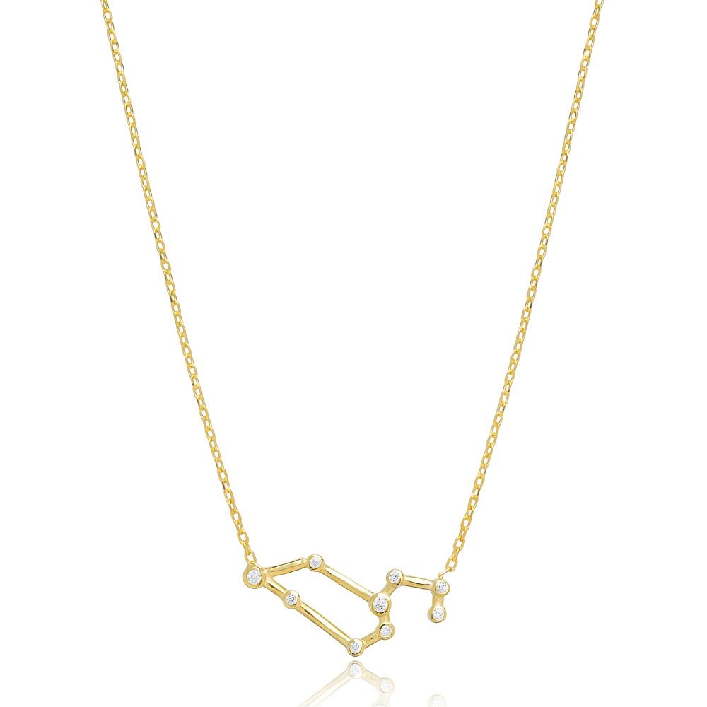 Zodiac Leo Necklace Turkish Handmade 925 Sterling Silver Jewelry