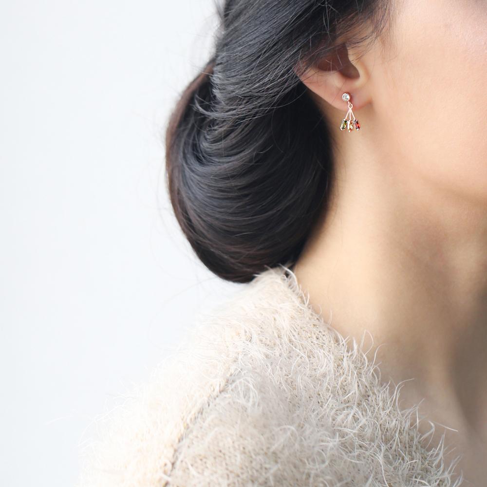 Baguette Dangle Silver Earring Wholesale Turkish 925 Sterling Silver Jewelry