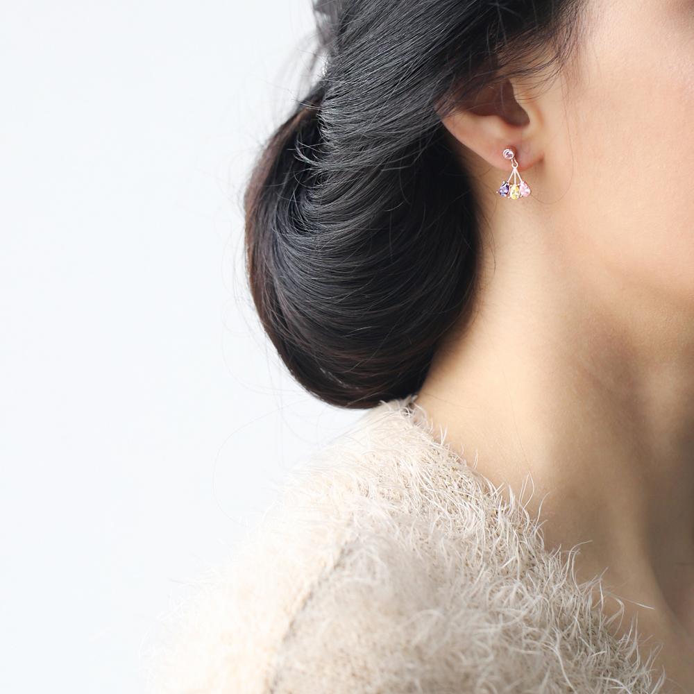 Pear Stone Dangle Silver Earring Wholesale Turkish 925 Sterling Silver Jewelry