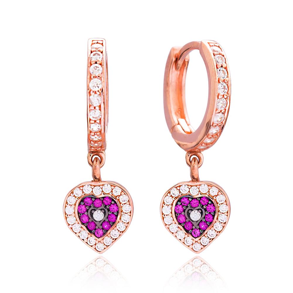 Heart Dangle Earring Wholesale Handmade 925 Silver Sterling Jewelry