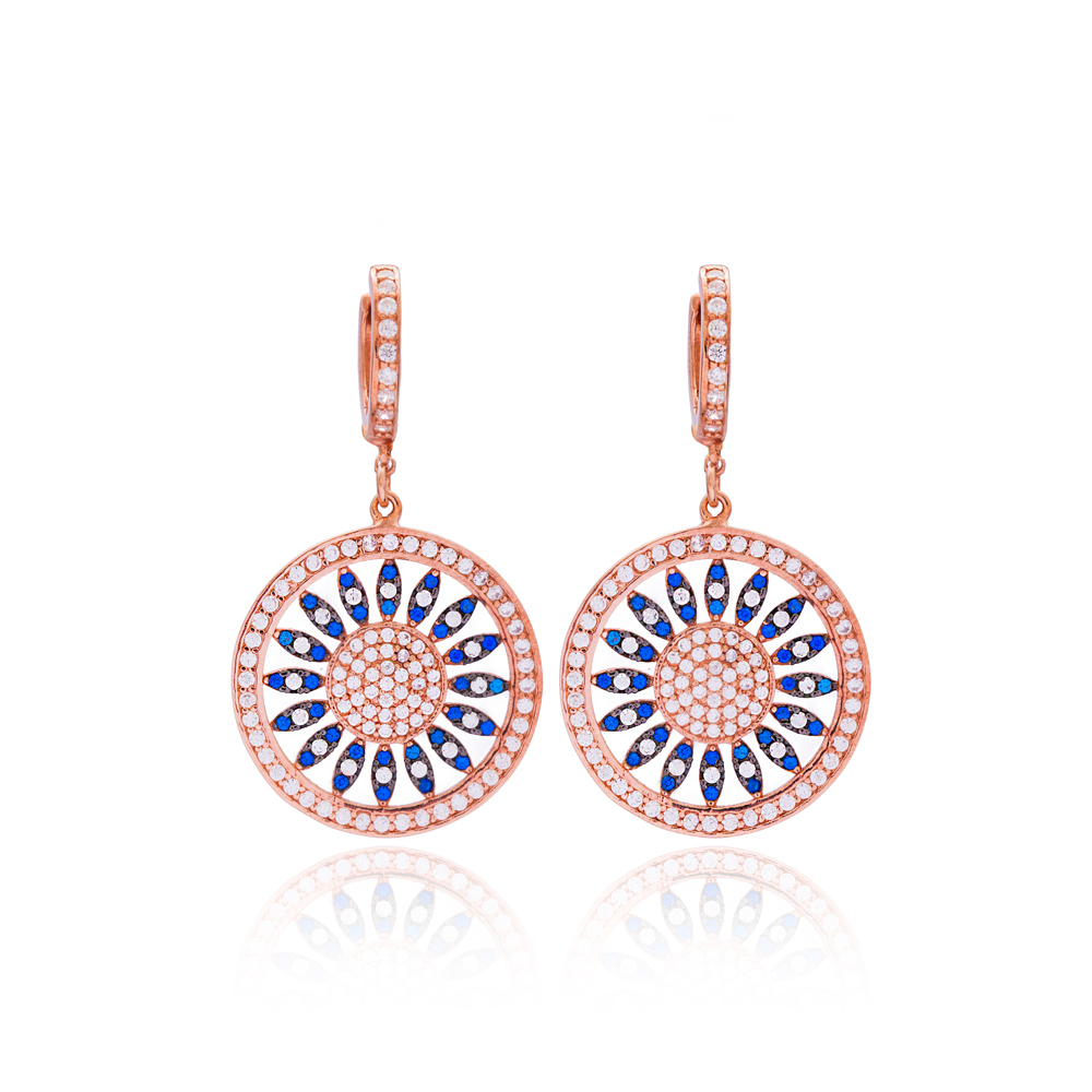 Traditional Long Earrings Wholesale 925 Sterling Silver Jewelry