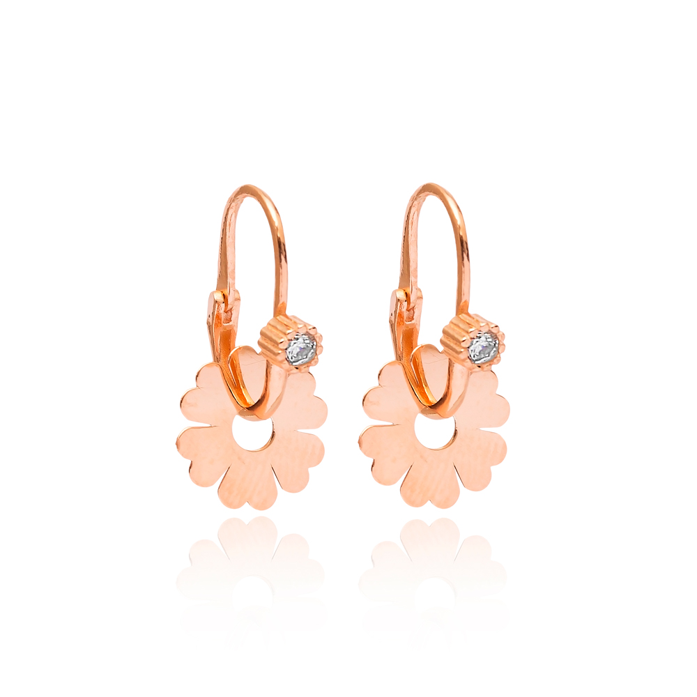 Dangle Flower Earring Wholesale 925 Sterling Silver Jewelry