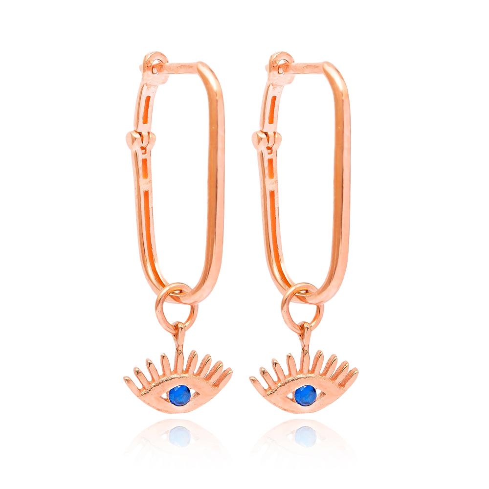 Evil Eye Latch Back Earring Wholesale 925 Sterling Silver Jewelry