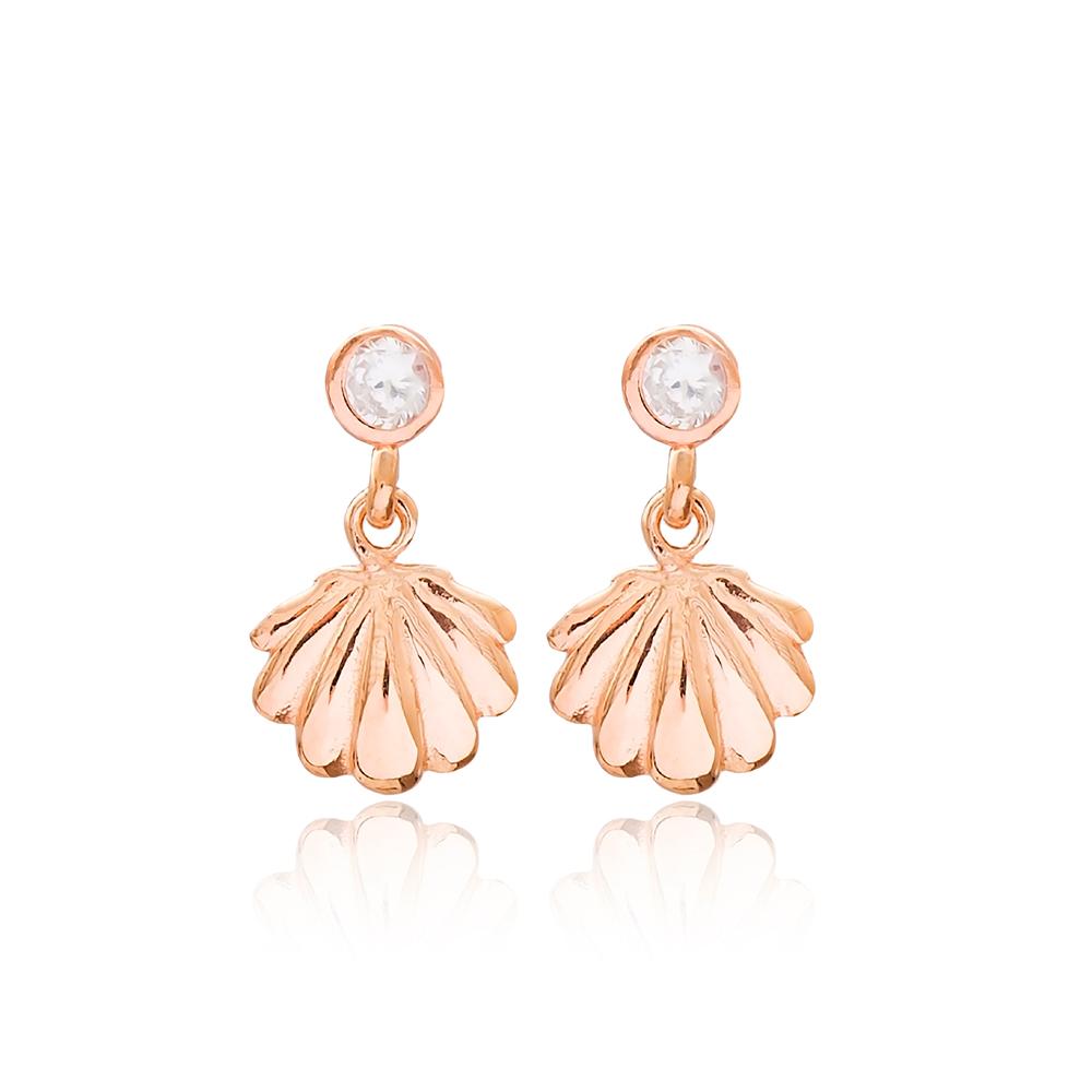 Seashell Dangle Earring Wholesale 925 Sterling Silver Jewelry