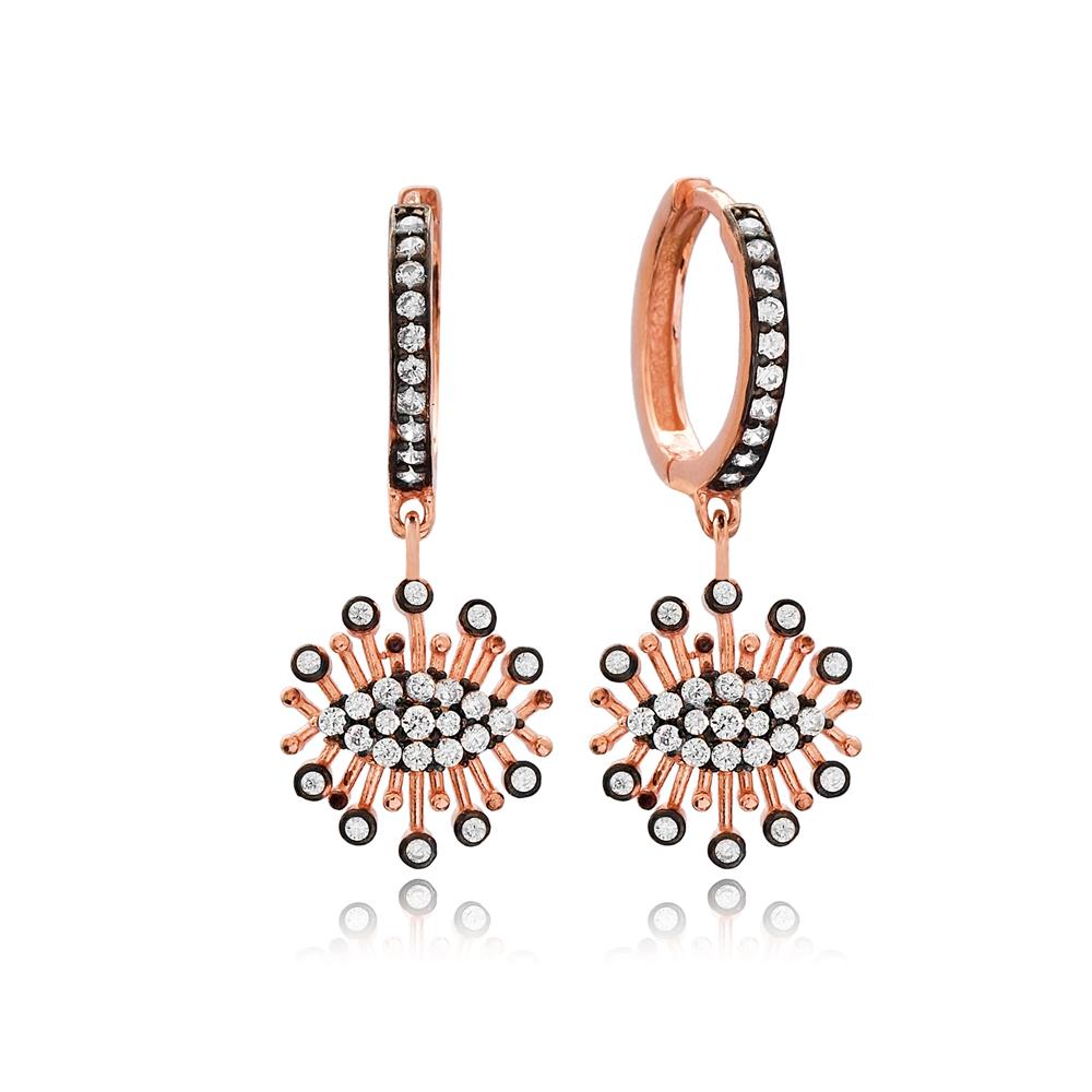 New Trendy Design Charm Turkish Wholesale Handmade 925 Sterling Silver Earrings