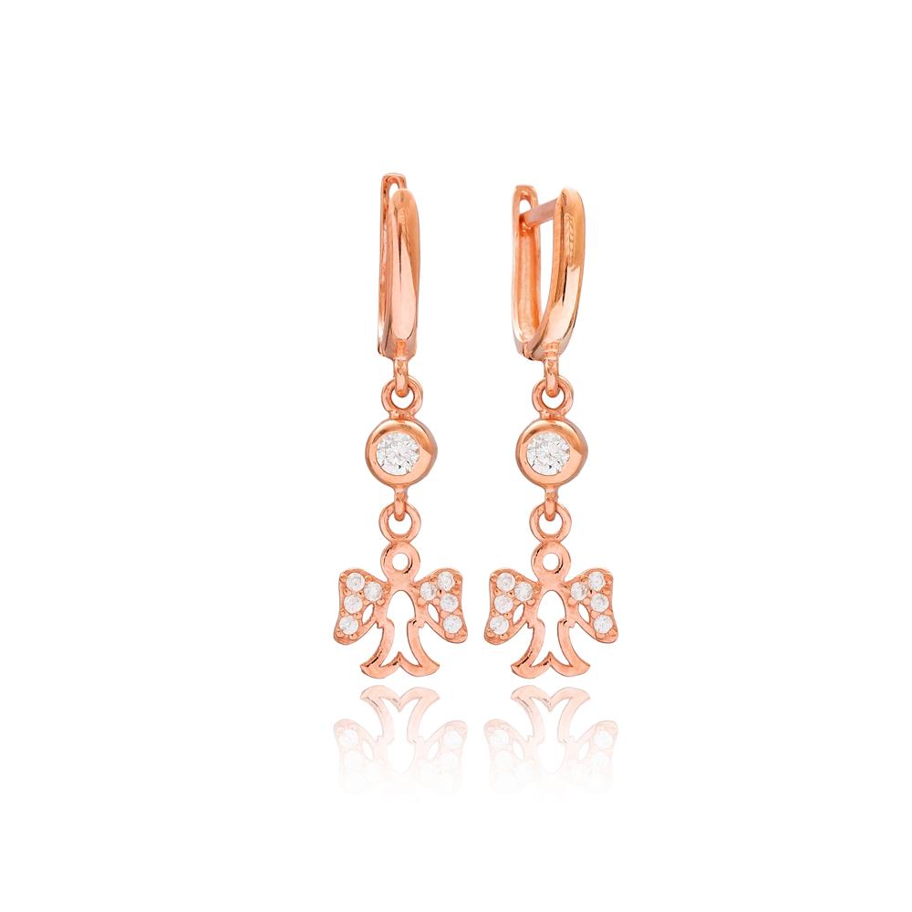 Angel Wing Design Silver Dangle Earrings Turkish Wholesale 925 Silver Sterling Jewelry