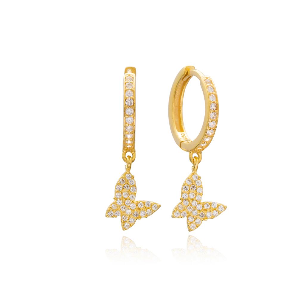 Butterfly Dangle Earrings Turkish Wholesale Handmade Sterling Silver Earring