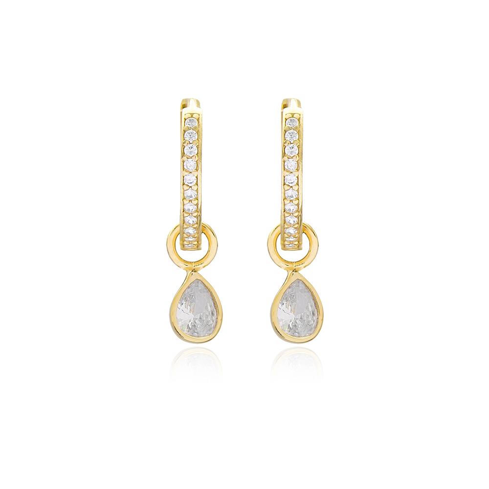 Elegant Drop Dangle Earrings Handmade 925 Sterling Silver Jewelry