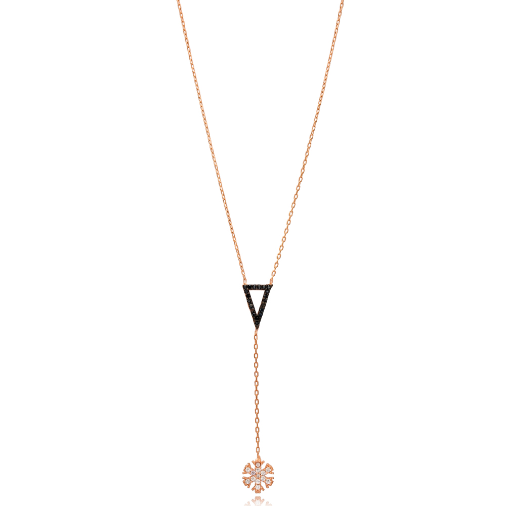 Elegant Snowflake Charm Wholesale Handmade Turkish 925 Silver Sterling Necklace