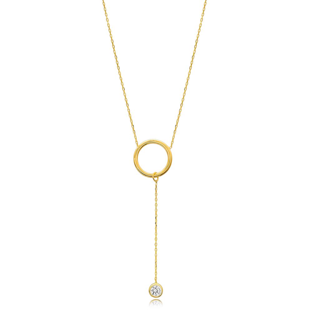 Elegant Round Shape Wholesale Handmade Turkish 925 Silver Sterling Necklace