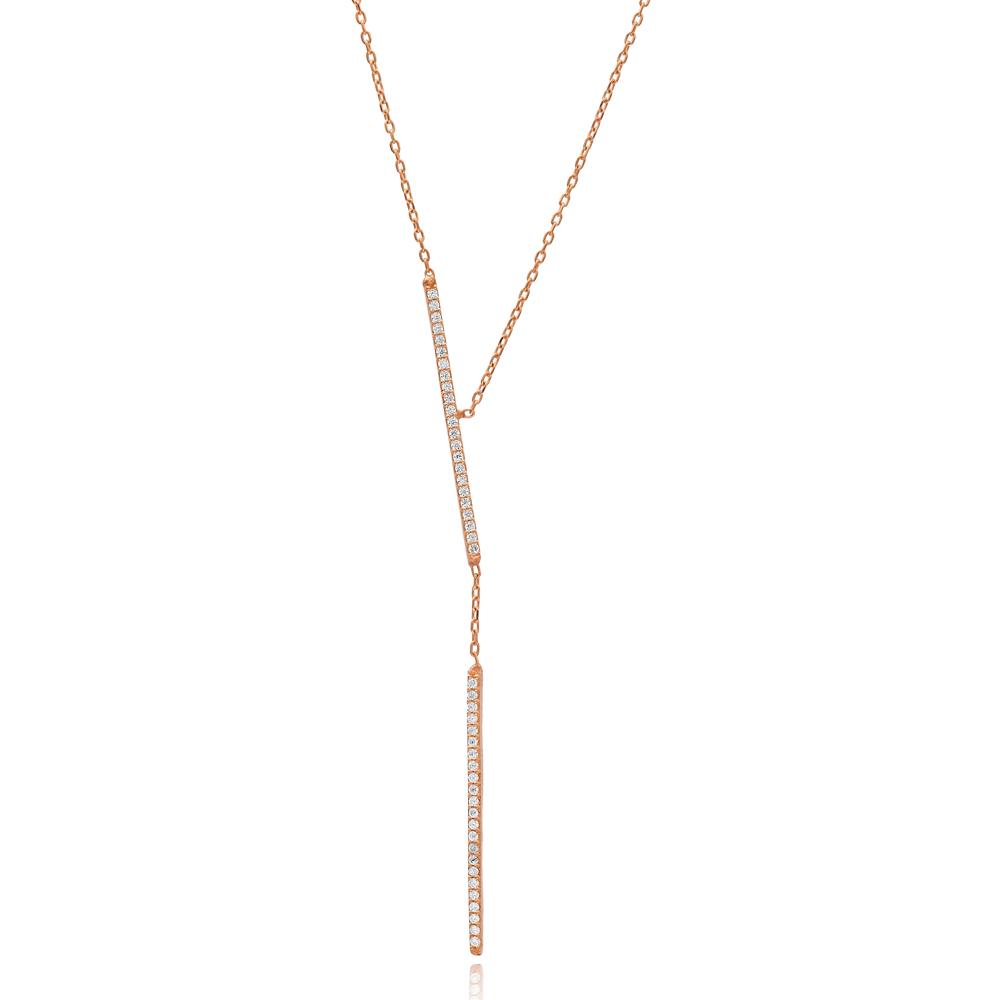 Elegant Design Long Necklace Turkish Wholesale Handmade 925 Sterling Silver Jewelry