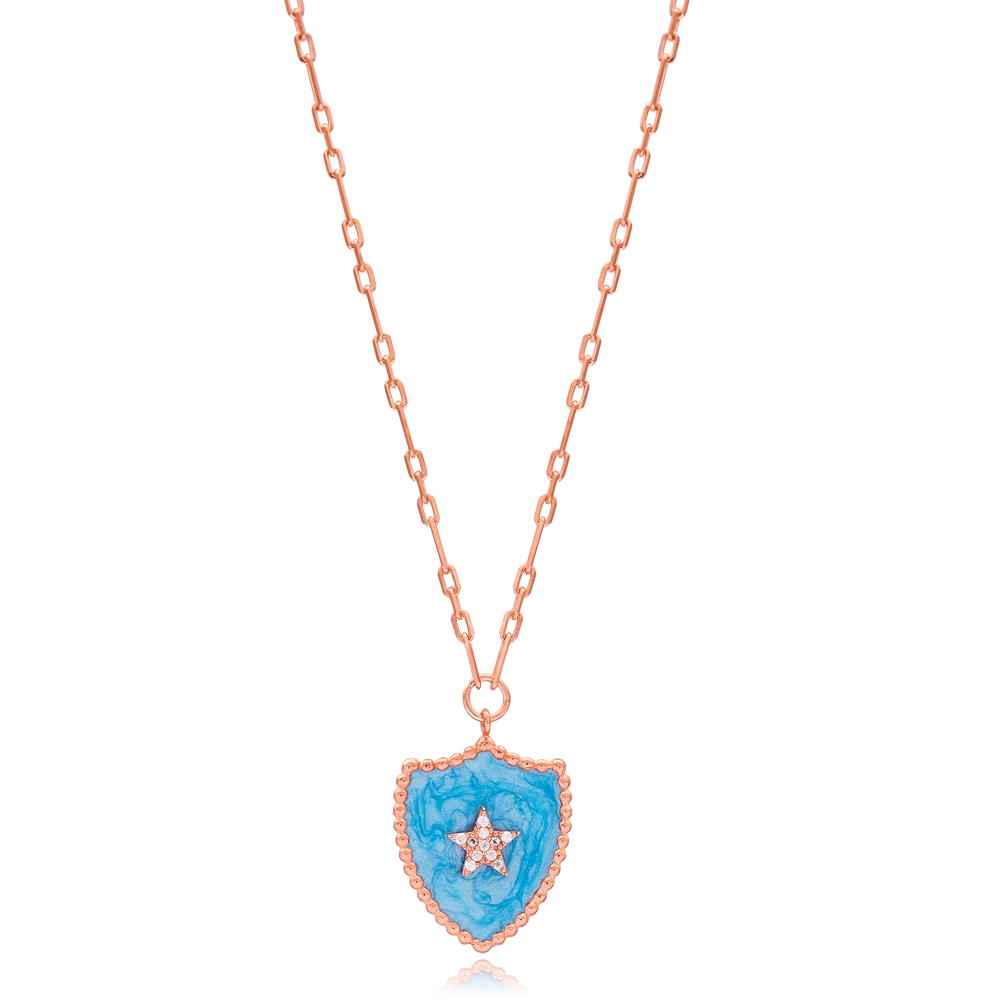 Medallion Star Design Necklace Wholesale Turkish Sterling Silver Jewelry