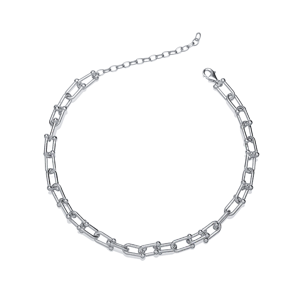 Dainty Silver Chain Anklet Wholesale Handmade Turkish 925 Sterling Silver Jewelry