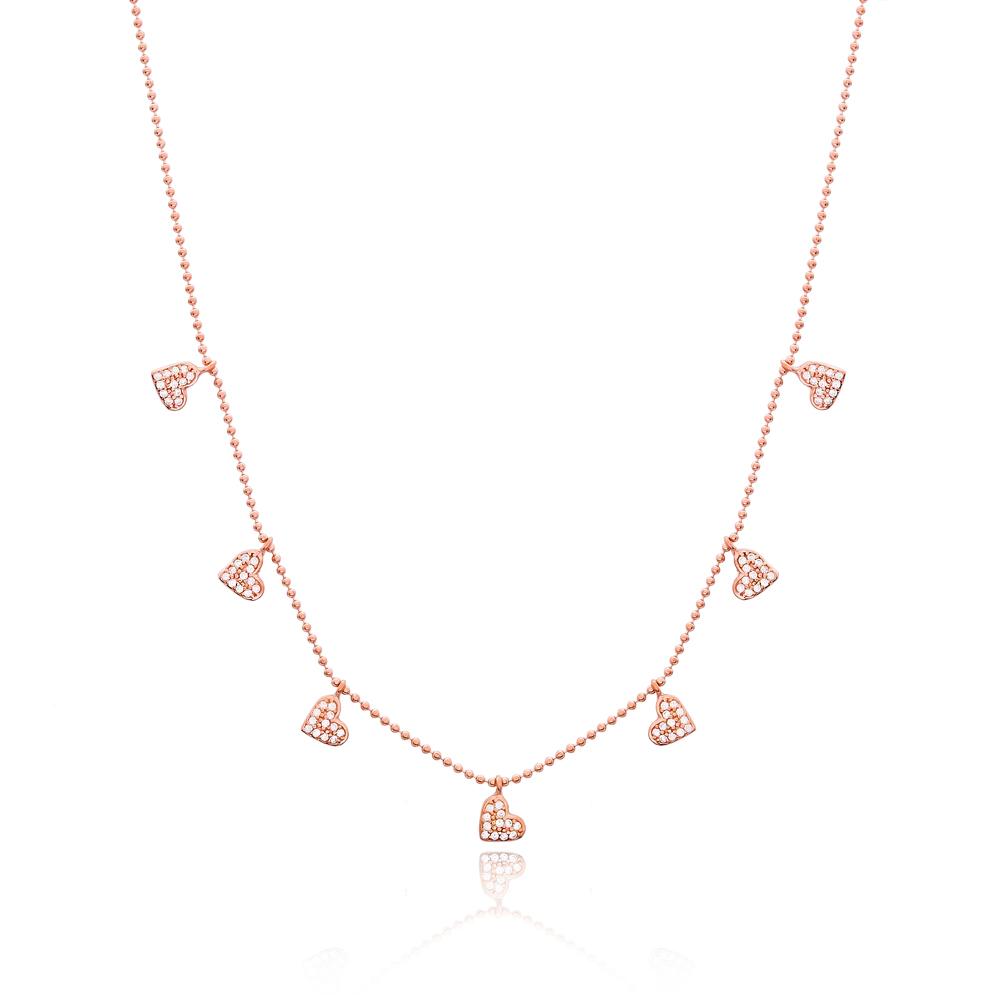 Minimalist Heat Design Turkish Wholesale Handcrafted Silver Necklace