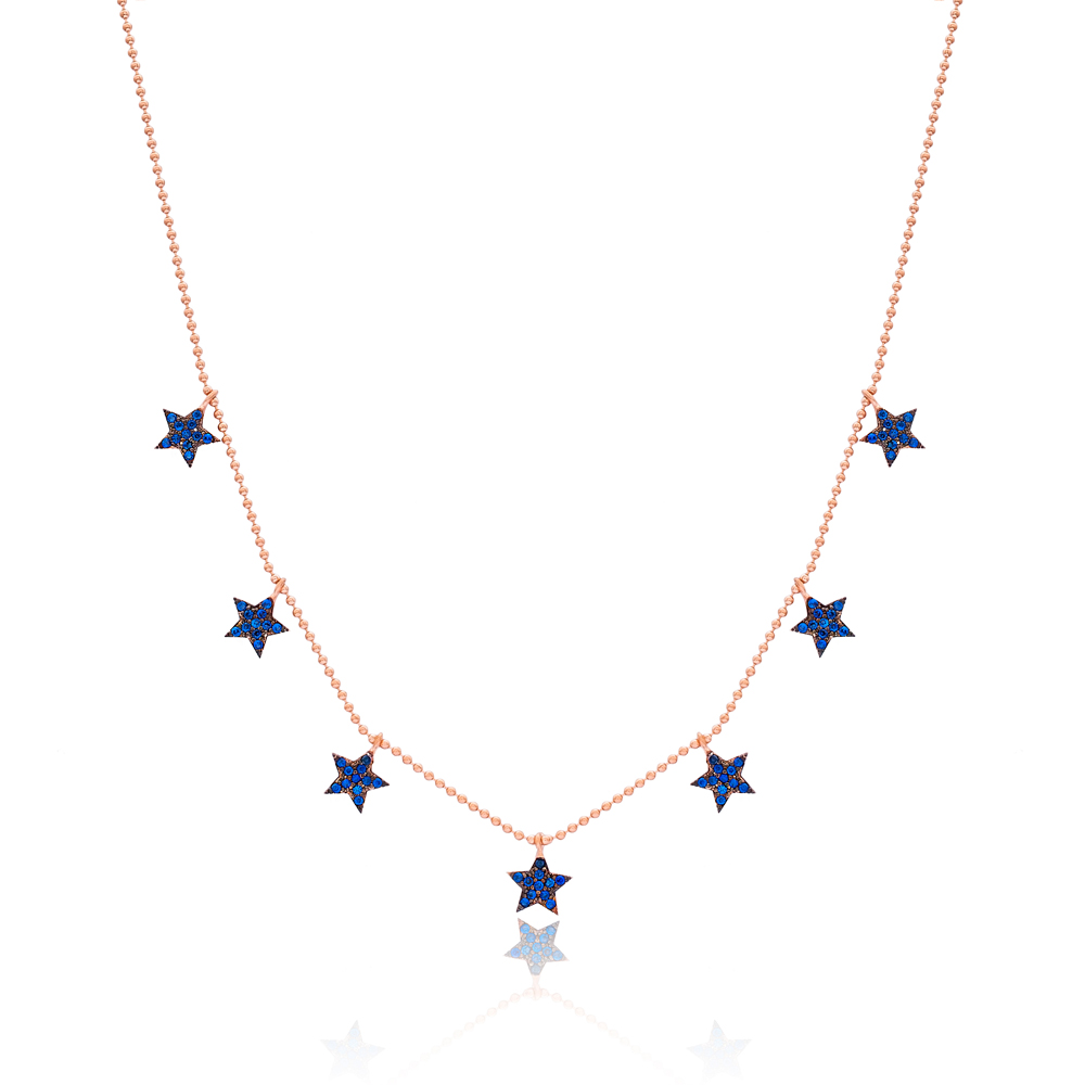 Minimalist Star Design Turkish Wholesale Handcrafted 925 Silver Necklace