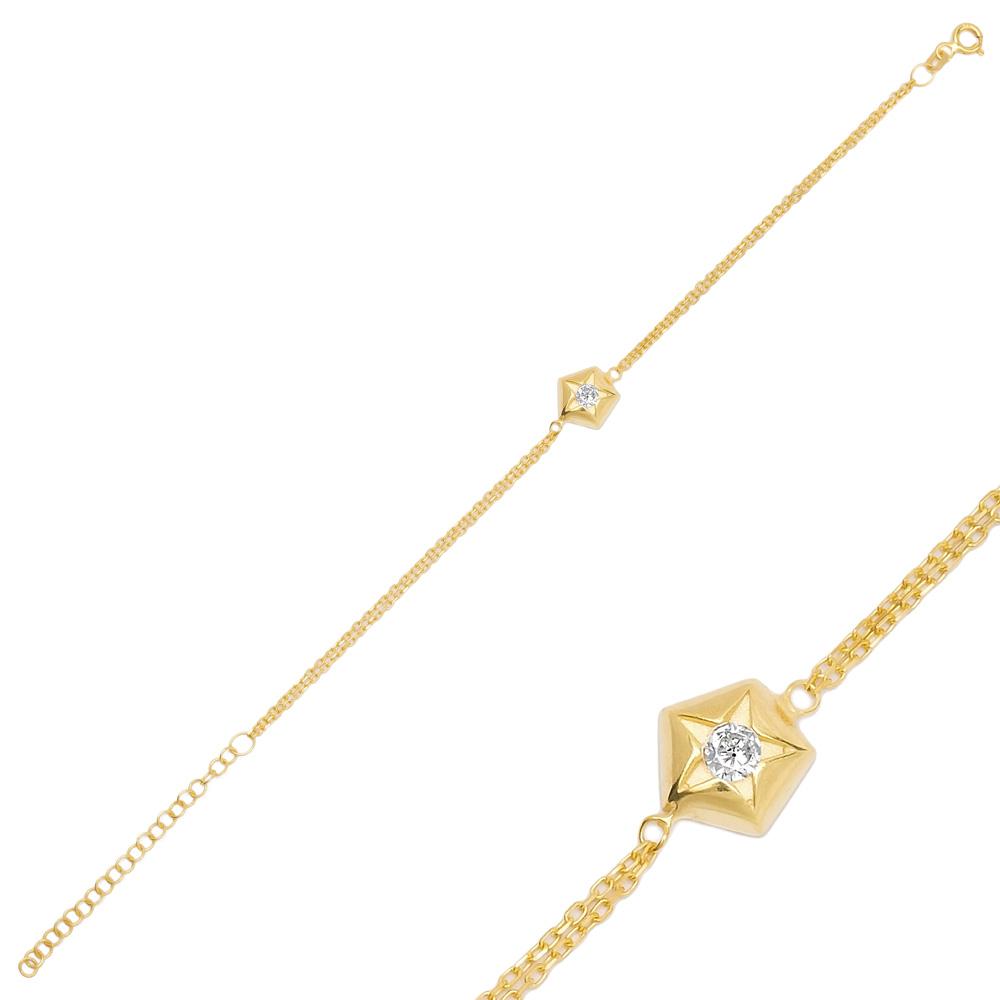 Minimal Star Charm Bracelet Turkish Handmade Wholesale 925 Sterling Silver Jewelry