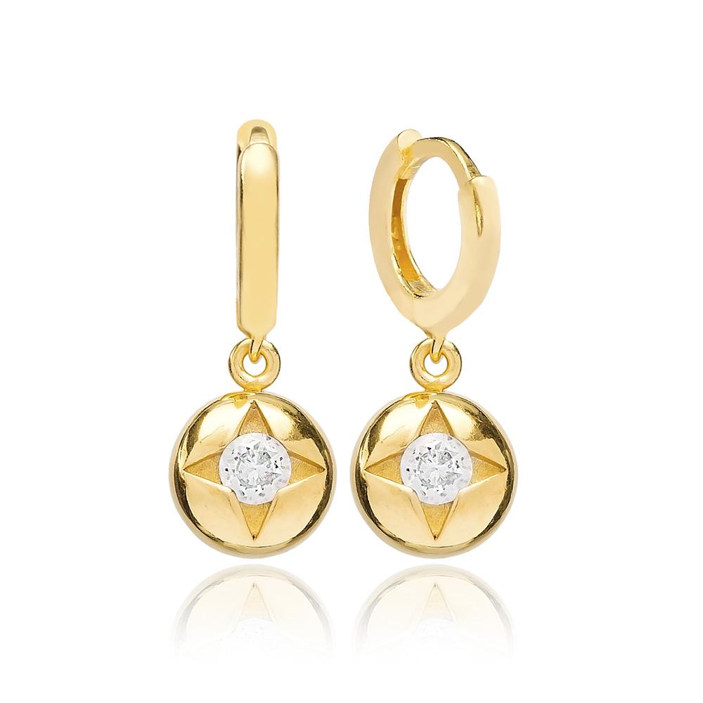 Star Dangle Earring Turkish Wholesale Handmade 925 Sterling Silver Jewelry