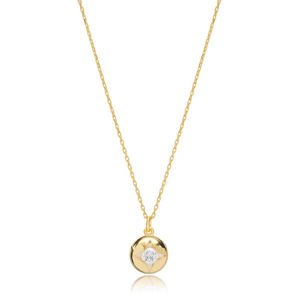 Star Design Pendant Turkish Handmade 925 Sterling Silver Jewelry