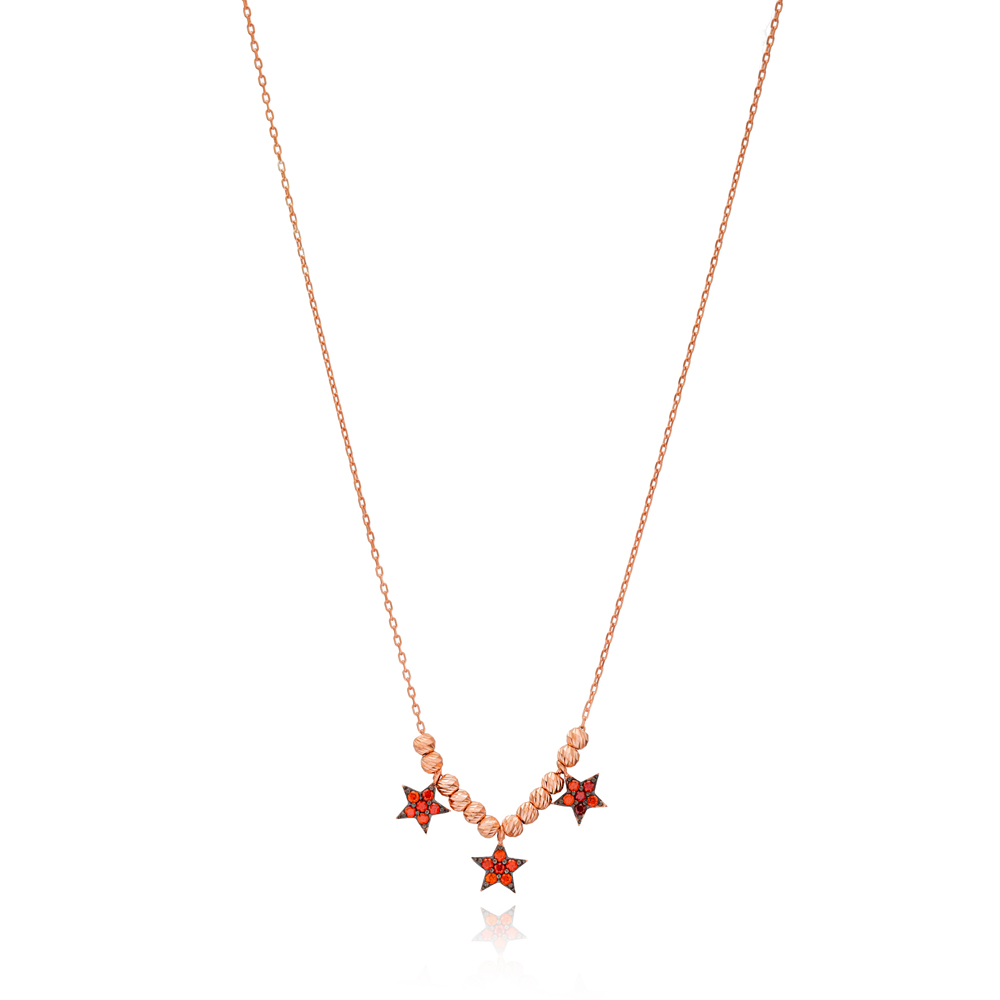 Star Design Design Turkish Wholesale Handcrafted 925 Silver Necklace