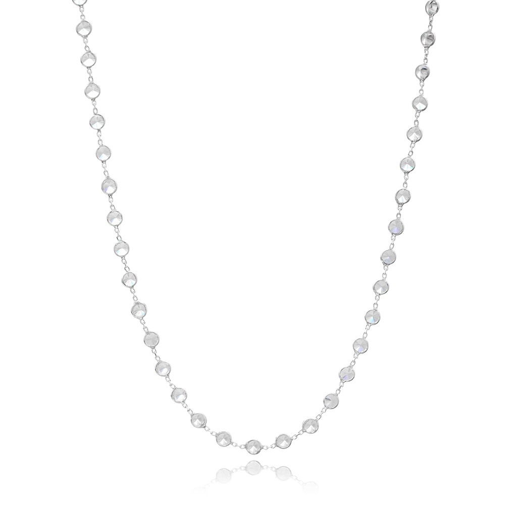 Fashion Shaker Zircon Necklaces for Women Turkish 925 Sterling Silver Jewelry