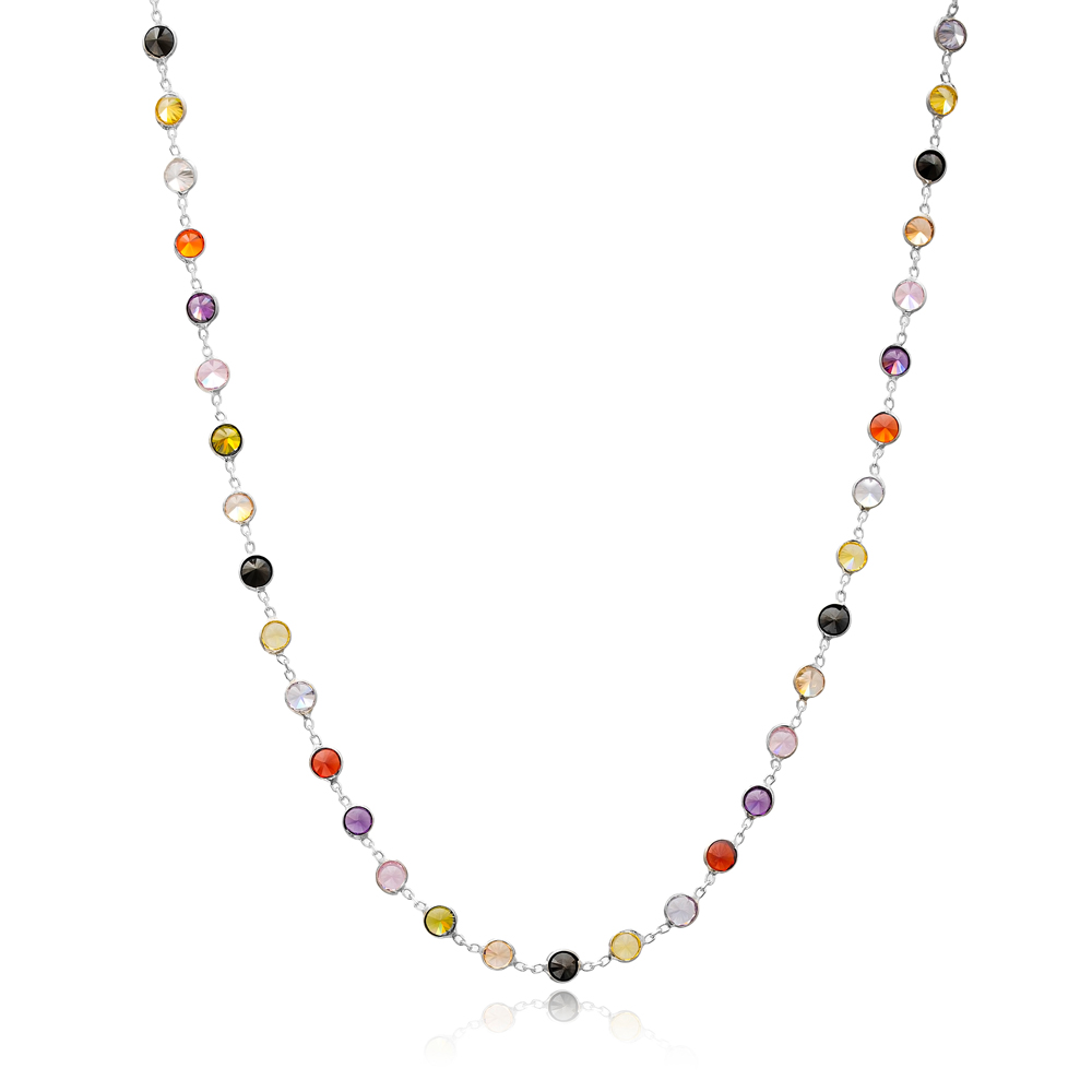 Trendy Color Shaker Turkish Fashion 925 Sterling Silver Necklace