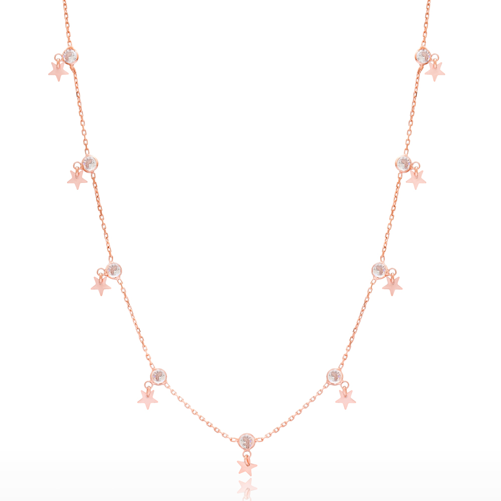 Trendy Style Star Shaker Wholesale 925 Sterling Silver Necklace