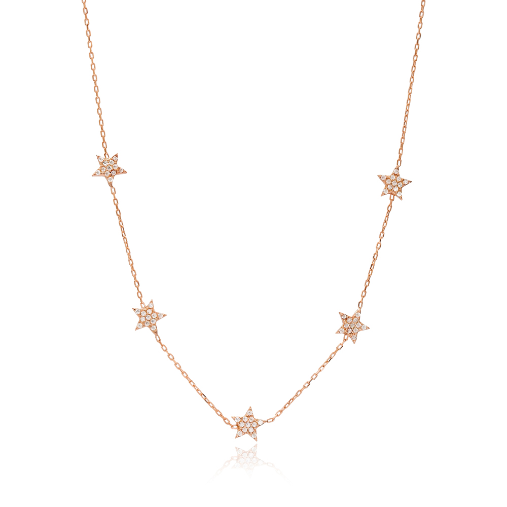 Star Charm Shaker Necklace Wholesale Handmade 925 Silver Sterling Jewelry