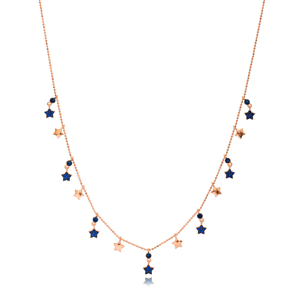 Sapphire Star Charm Jewelry Wholesale Handmade 925 Silver Sterling Necklace