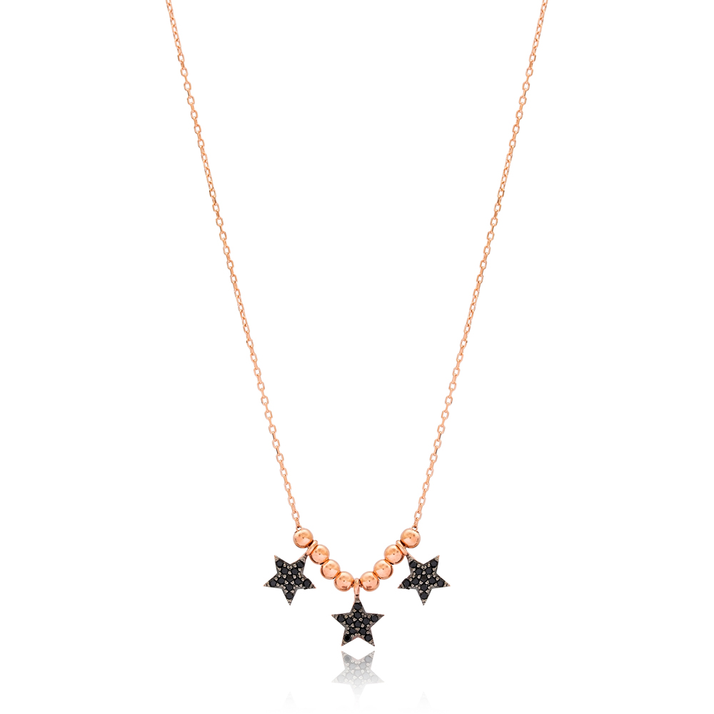Beaded Star Charms Turkish Wholesale Handcrafted 925 Silver Necklace