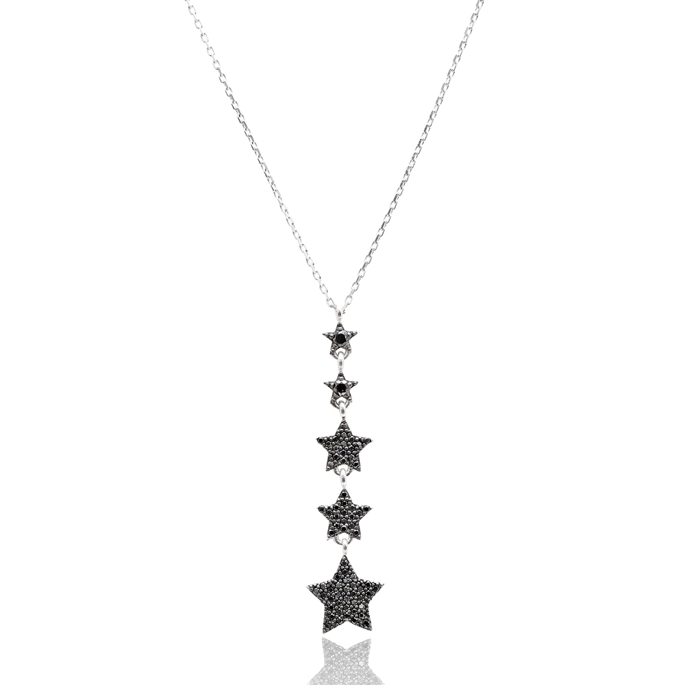 Turkish Wholesale Handcrafted Pave Zircon Sterling Silver Star Charm Pendant