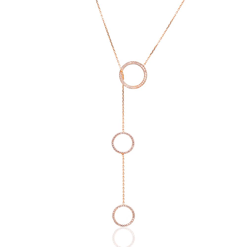 Handmade Silver Sterling Simple Ring Circle Bar Pendant