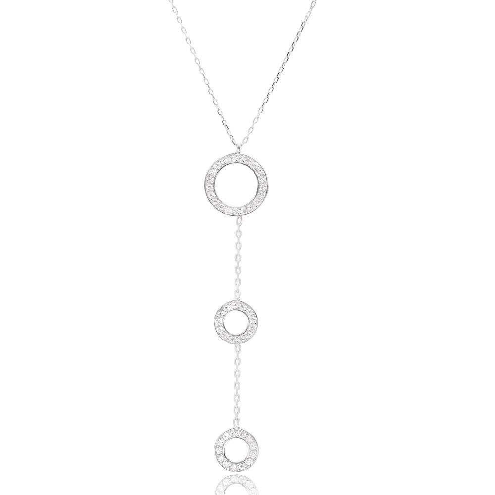 Wholesale 925 Silver Sterling Turkish Jewellery Fashion Three Round Pendant