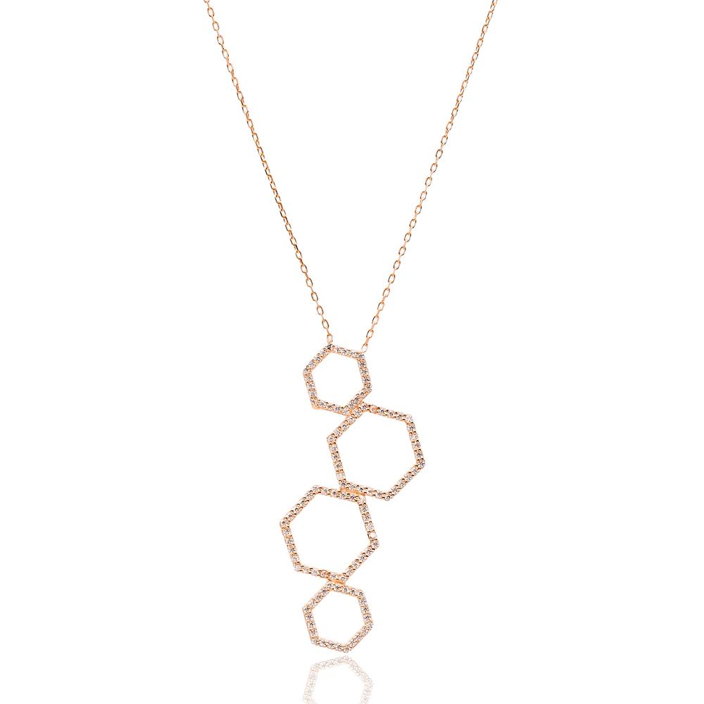 Hexagon Turkish Wholesale Sterling Silver Pendant
