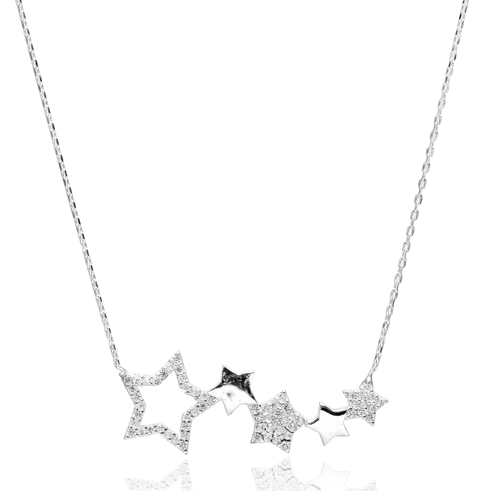 Cluster Stars Necklace Turkish Wholesale Handcrafted Jewelry