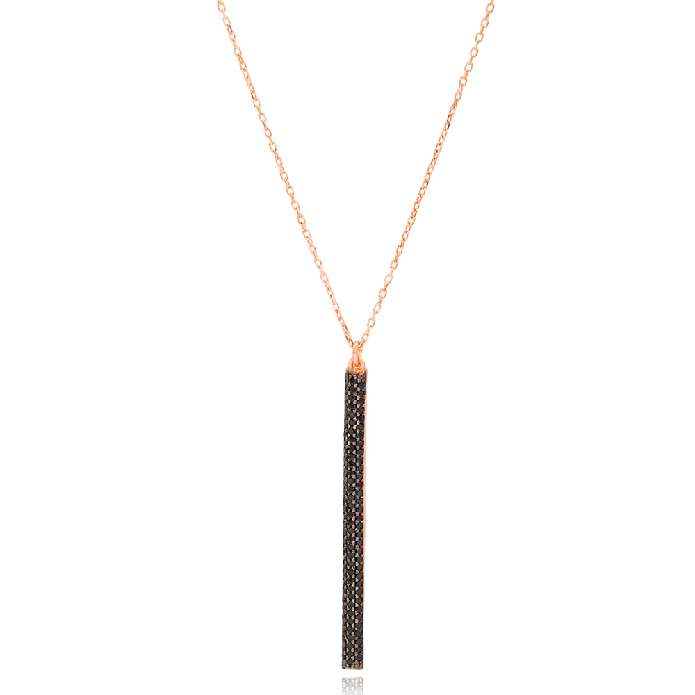 Long Thin Charm Pendant In Wholesale Handcrafted 925 Sterling Silver Jewelry