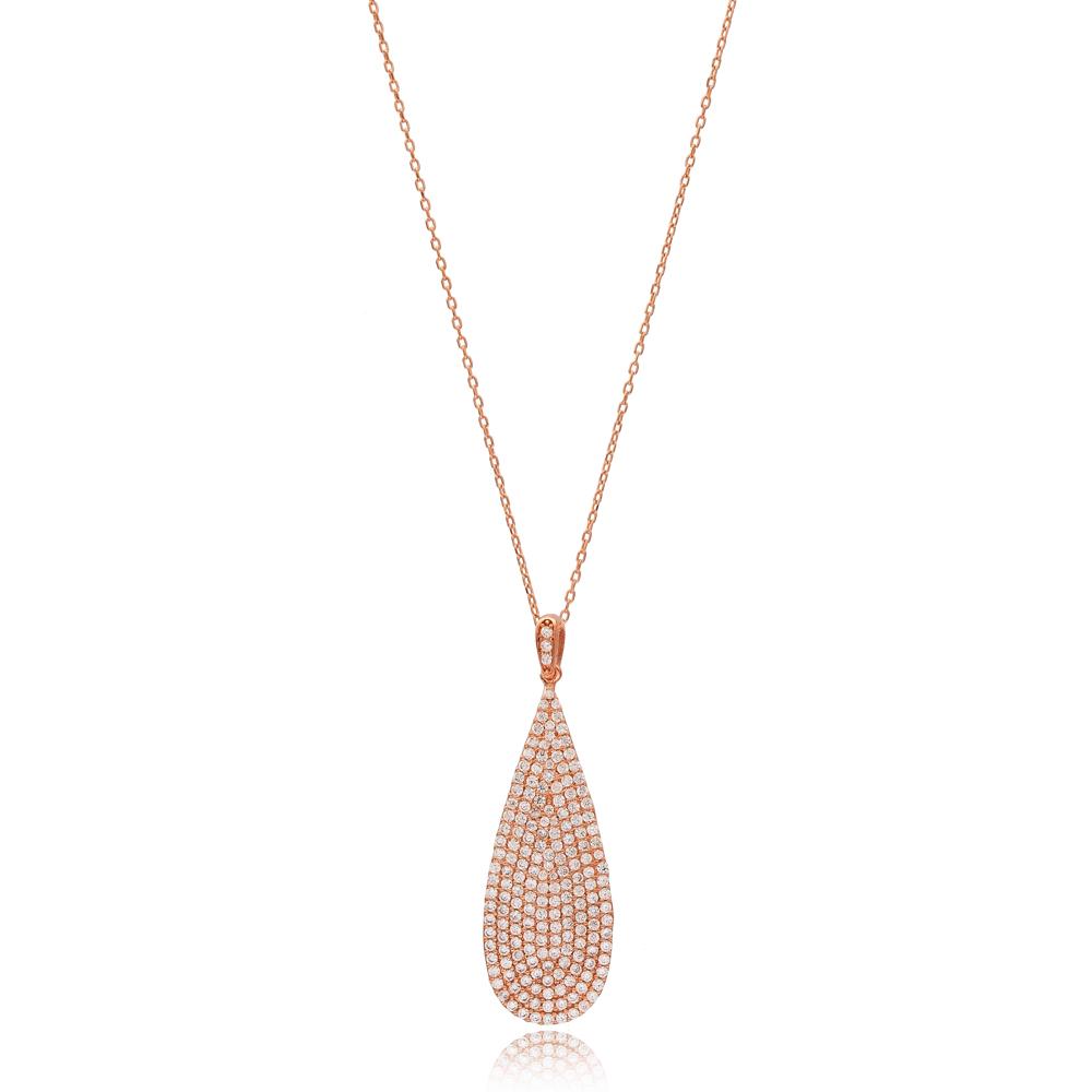 Drop Design Long Pendant Wholesale Handmade 925 Silver Sterling Jewelry