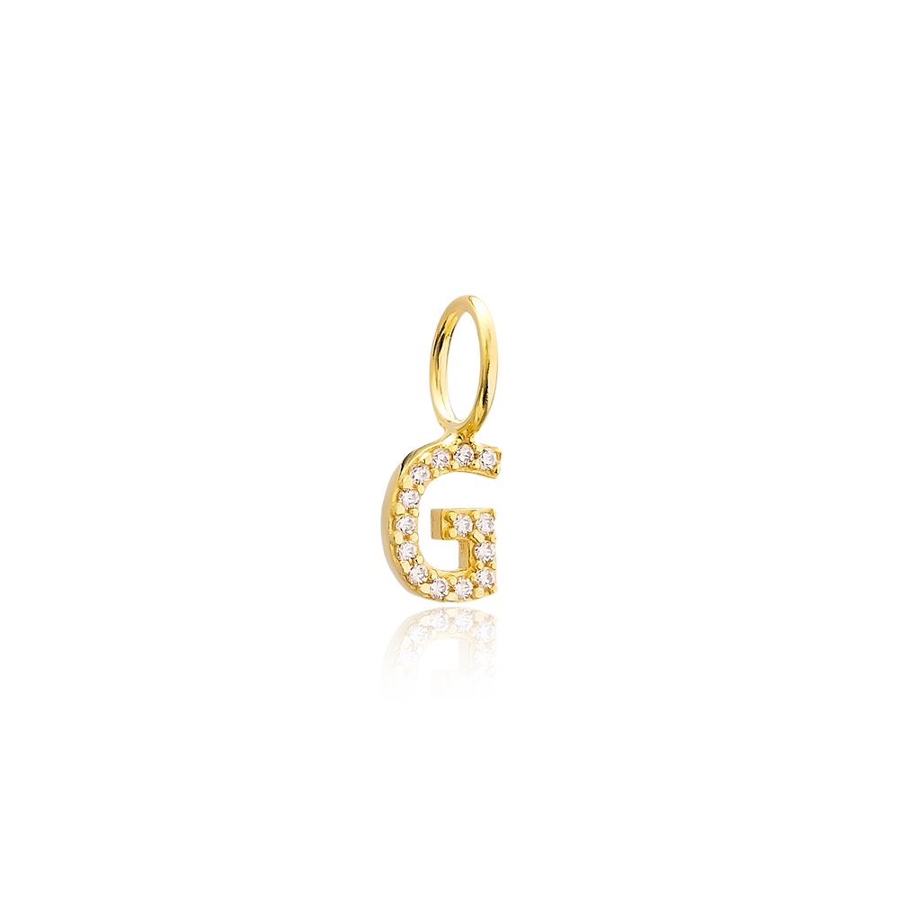 G Letter Charm Pendant Wholesale Handmade Turkish 925 Silver Sterling Jewelry