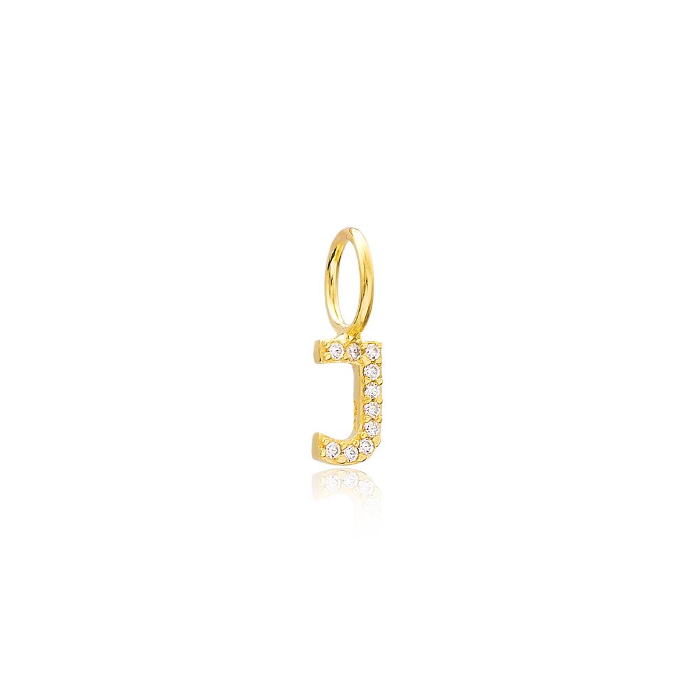 J Letter Charm Pendant Wholesale Handmade Turkish 925 Silver Sterling Jewelry