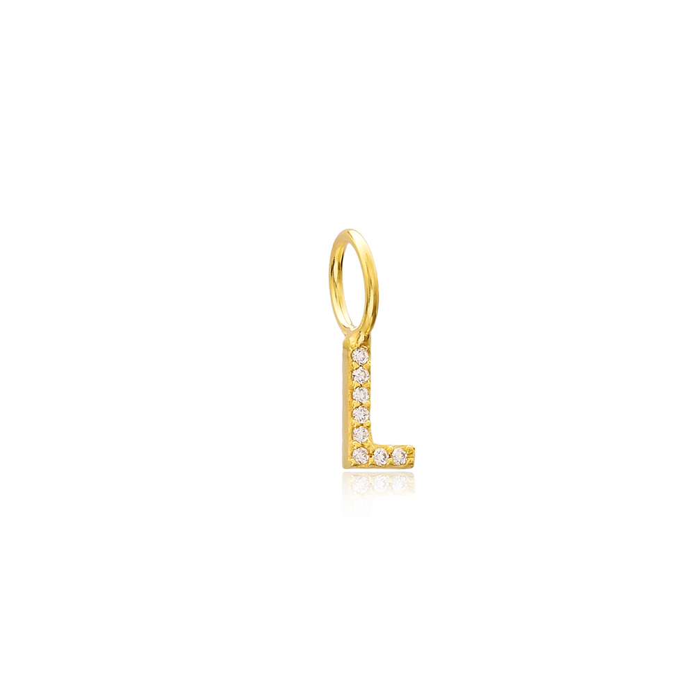 L Letter Charm Pendant Wholesale Handmade Turkish 925 Silver Sterling Jewelry