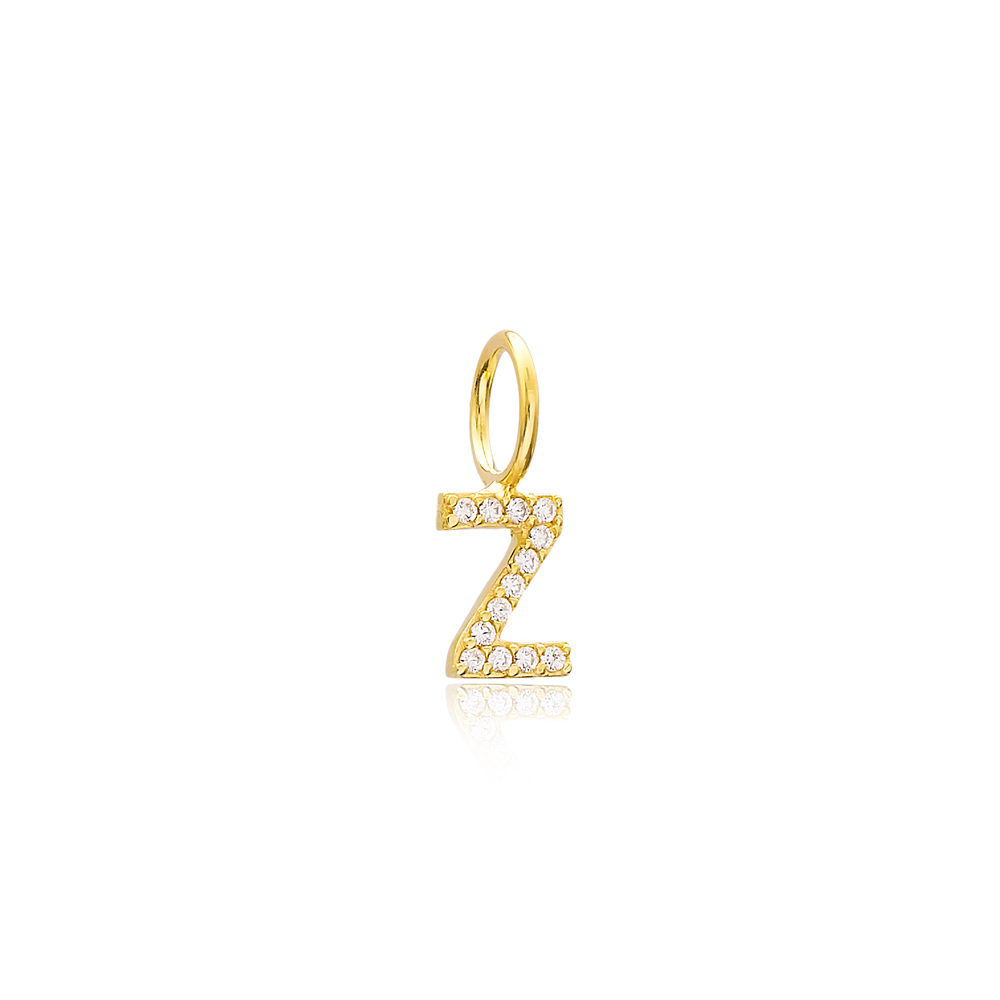 Z Letter Charm Pendant Wholesale Handmade Turkish 925 Silver Sterling Jewelry