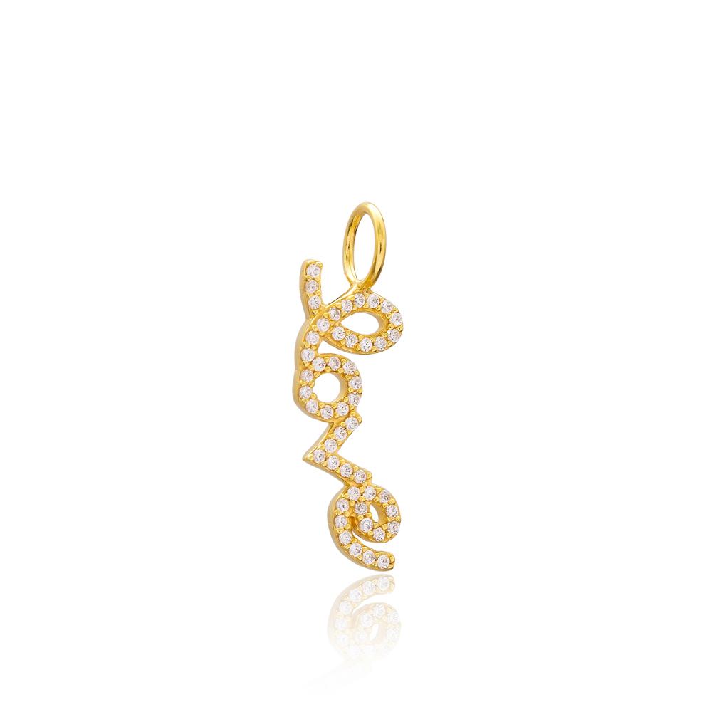 Love Design Charm Wholesale Handmade Turkish 925 Silver Sterling Jewelry