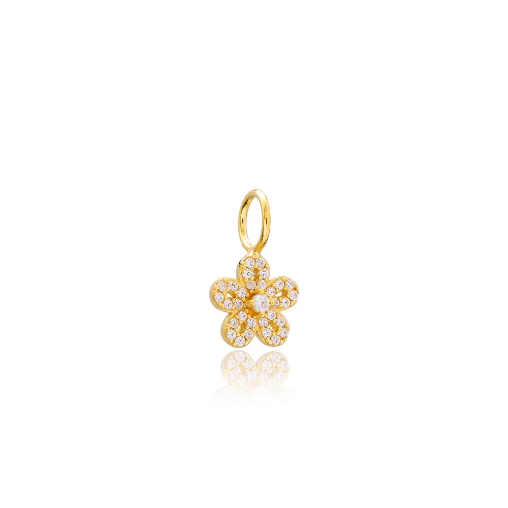 Elegant Flower Charm Wholesale Handmade Turkish 925 Silver Sterling Jewelry