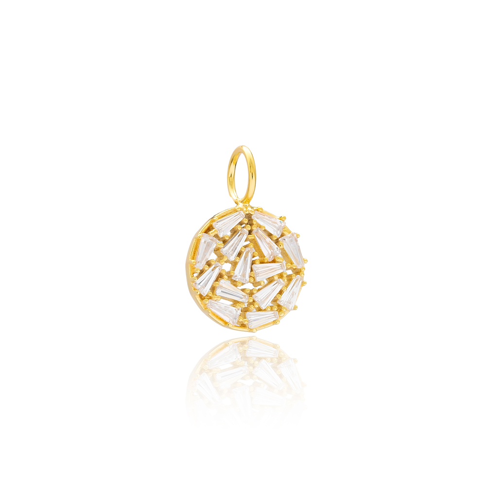 Baguette Stone Charm Wholesale Handmade Turkish 925 Silver Sterling Jewelry