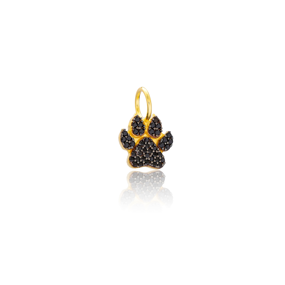 Paw Charm Wholesale Handmade Turkish 925 Silver Sterling Jewelry With Hole Ø7 mm