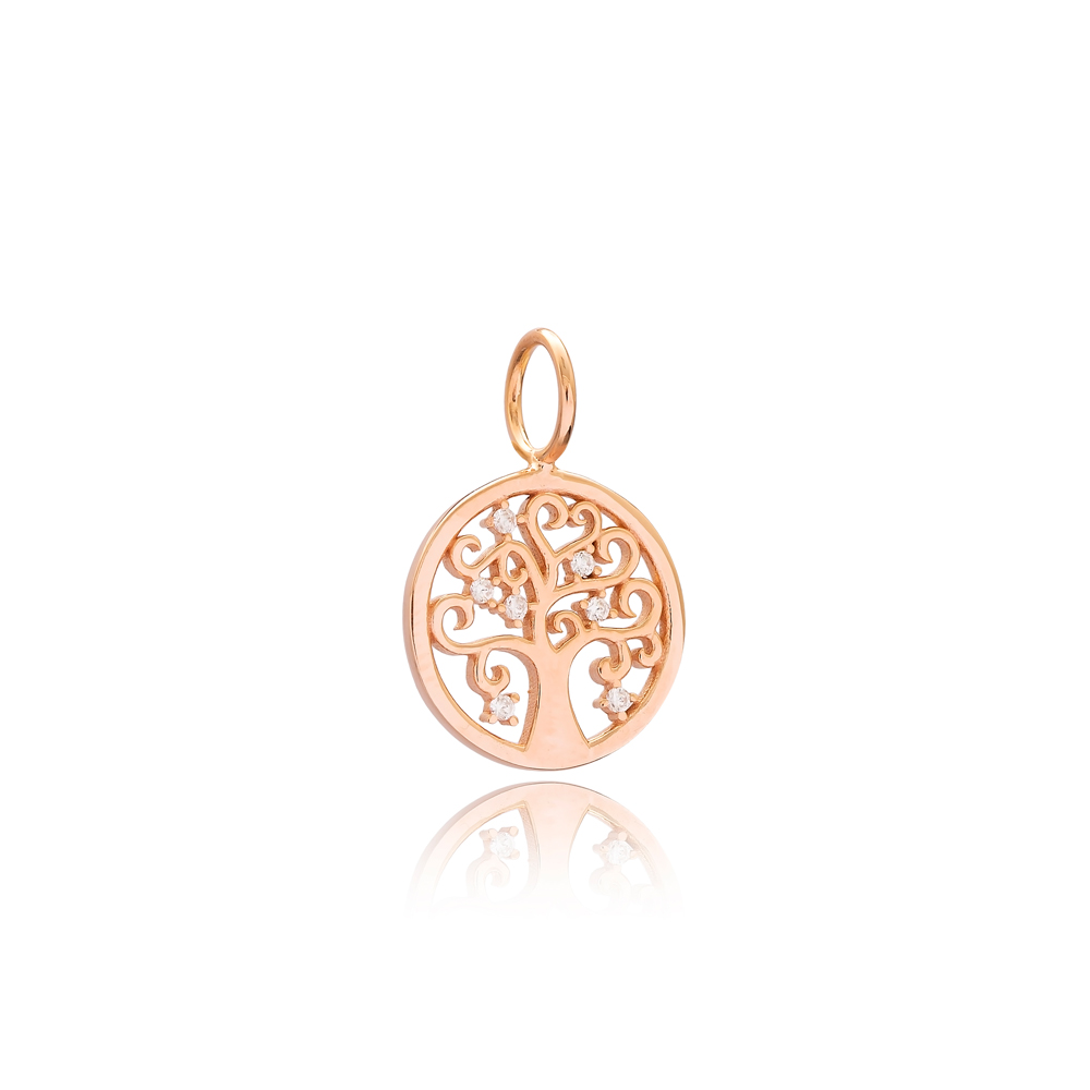 Tree of Life Charm Wholesale Handmade Turkish 925 Silver Sterling Jewelry